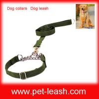 Buy cheap Nylon Metal chain Dog collars Dog leash QT-0082 from wholesalers