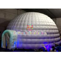 Buy cheap Giant UV Inflatable Dome Tent / CE14960 Air Dome Structures With LED Lightnings from wholesalers