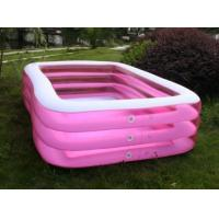 Buy cheap Giant Inflatable Swimming Pools Square For Family Use 0.18mm PVC from wholesalers