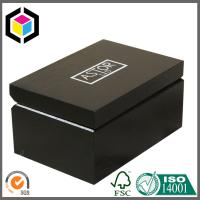 Buy cheap Small Size Cardboard Gift Cases; Rigid Chipboard Black Color Print Gift Box from wholesalers