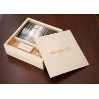Buy cheap Sliding Lid Wooden Photo Frame Box , Wooden Photo Memory Box With Wooden USB Drive product