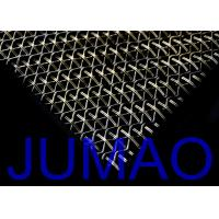 Buy cheap Stainless Steel Waved Architectural Metal Fabric For Exterior Wall Facades product