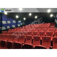 Buy cheap New Design 4D Movie Theater Red Chairs Pneumatic System / Hydraulic System product
