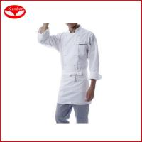 Buy cheap Personalized short / Long sleeve White hotel jacket food service uniforms from wholesalers