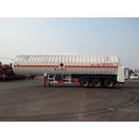 Buy cheap Double Layered Gas Tank Truck 56000L 3x13T FUWA Alxe Cryogenic LNG Tank from wholesalers