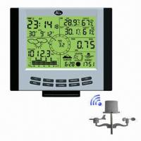 Buy cheap Professional Weather Station Orraingauge and AED Elecrtonic Clock, 12 or 24-hour Time Display from wholesalers