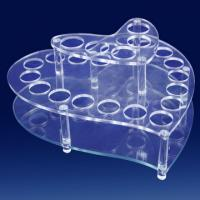 Buy cheap Heart Shape Clear Acrylic Cosmetic Display,Plexiglass Makeup Holder product
