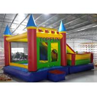 Buy cheap Outdoor Amusement Park 6 x 5 m PVC Tarpaulin Inflatable Bouncy Castle With Slide from wholesalers