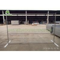 Buy cheap Electric Galvanized Temporary Fence Panels 6 ' × 9.5 '  Square Tube With Metal Base from wholesalers