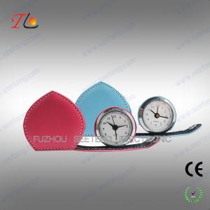Buy cheap Mini folding heart shape leather travel alarm clock from Wholesalers