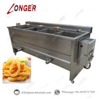 Buy cheap Onion Ring Frying Machine|Commercial Onion Ring Frying Machine|Automatic Onion Ring Making Machine|Continuous Fryer from wholesalers
