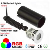Buy cheap Waterproof IP67 LED Buried Light RGB full color lawn, ground, park spotlight from wholesalers