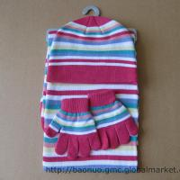 Buy cheap Knitwear set, acrylic knit scarf, hat & gloves set, apparel accessory from wholesalers