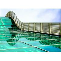 Skylight 5mm two layers laminated toughened glass , Processed Solid Bent Laminated Glass
