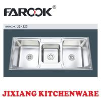 Buy cheap triple bowl stainless steel kitchen sink from wholesalers