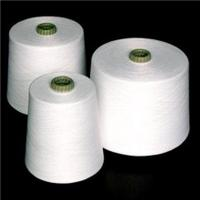 Buy cheap 20/2-60/2 100 Percent Spun Polyester Yarn Raw White Evenness with Virgin Fiber from wholesalers
