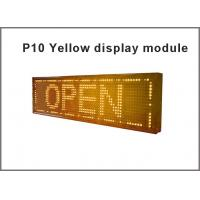 Buy cheap Pixel P10 led programmable message sign board single Yellow open sign taxi top led advertising billboard led display from wholesalers