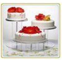 Buy cheap Beautiful Shape Acrylic Cake Stand Acrylic Displays shelves from wholesalers