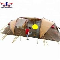 Buy cheap Family Cabin Tent Camping Tent with 2 Bedroom and 1 Lliving Room for 8-10 People from wholesalers