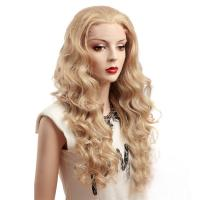 Buy cheap Blonde Deep Wave Synthetic Front Lace Wigs For White Women from wholesalers