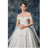 Buy cheap Sweetheart Neckline Lace Applique Satin Wedding Gown from wholesalers