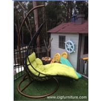 Outdoor patio swing chair swing hanging chair with cushion on sale
