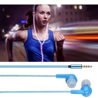 Buy cheap Visible Flowing Led Light Sport Earbuds Earphones 3.5mm Jack Cable Wired In Ear Stereo from wholesalers