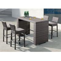 Buy cheap Patio Bar Sets Outside Commercial Furniture with Plastic Timber Table from wholesalers