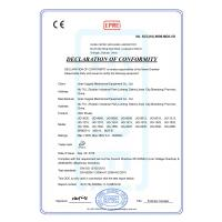 Jinan Upgoal Mechanical Equipment Co.,Ltd Certifications