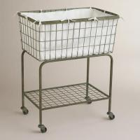Buy cheap 2 Tier Heavy Gauge Iron Wire Laundry Basket House Hold Organizer 810x400x730 mm from wholesalers