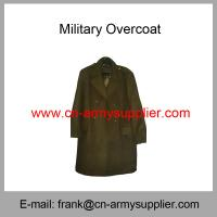 Buy cheap Wholesale Cheap China Army Wool Acrylic Polyester Mixed Overcoat from wholesalers