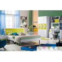 Buy cheap Green Color E1 MDF Board Childrens Bedroom Sets With 1.2 Meters Bed from wholesalers