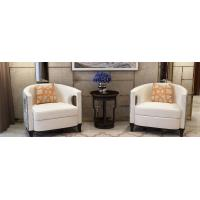 Buy cheap Light luxury Hotel Sofa used Leather upholstered Leisure chairs for Lobby seating furniture from wholesalers