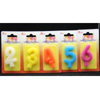 Birthday Number Candles Colorful pure Color (0-9)number candle