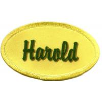 Buy cheap Harold name patch no minimum DYED personalized name badge from wholesalers
