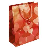 Buy cheap Promotional Personalized handle wedding gift bags red with handles custom printed from wholesalers