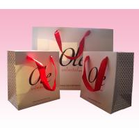 Buy cheap custom recycled paper packaging bag priniting with spot UV logo from wholesalers