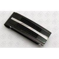 Buy cheap Cable 316L Stainless Steel Money Clip Black Plated With Fashion Gift from wholesalers