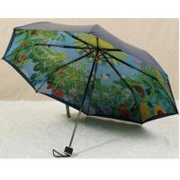Buy cheap 21 Inches Collapsible Patio Umbrella Manual Open Metal Frame Printed Pattern product