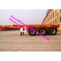 Buy cheap 3 Axles 40ft Container Chassis Skeleton Semi Trailer Trucks With Twist Lock from wholesalers