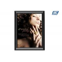 Quality Black Painted Open Snap A1 Poster Frame , Square Corner Poster Clip Holder for sale