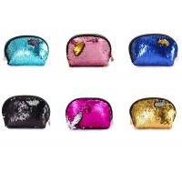 Buy cheap Mermaid lady sequin reversible shell shape handbag wallet square purse coin purse from wholesalers