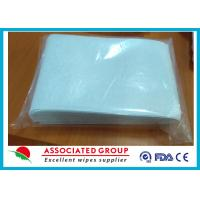Buy cheap Non Woven Wet Wash Glove Spunlaced Cross Lappe Square Shape For Scrubbing Body from wholesalers