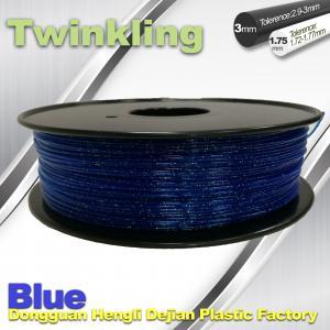Buy cheap Blue Color Flexible 3D Printer Filament 1.75 3.0mm Twinkling Filament 200°C - 230°C product