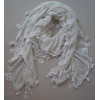China Flower Decoration Long Winter Scarf (zh21002) on sale