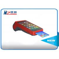 Buy cheap All In One Smart Handheld POS Terminal / Point Of Sale For Android , Red from wholesalers