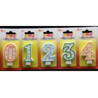 Buy cheap Best-selling Number Candle unique Colorful polka dot number birthday candle With Multi-color edge from wholesalers
