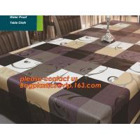 Buy cheap PVC European style square table cloth waterproof Oilproof non wash plastic pad plus velvet anti hot coffee tablecloth from wholesalers