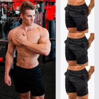 Buy cheap High Waist Custom Black Tight Sports Running Wear Shorts with pocket For Men from wholesalers