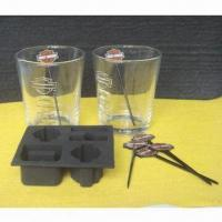 Buy cheap DOF Glass Set with Drink Picks and Silicone Ice Cube Tray from wholesalers